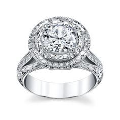 Capri Jewelers Arizona ~ www.caprijewelersaz.com Michael M. 18K White Gold Diamond Engagement Ring Setting