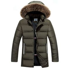 Aliexpress.com : Buy 2016 New Fashion Long Winter Jacket Men's Parka Coat Thick Mens Winter With Natural Fur Hooded Good Quality Jacket Men Outwear from Reliable men winter suppliers on Deniska Store