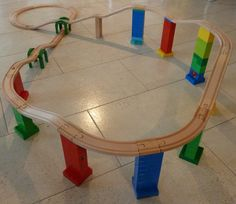 Brio Duplo wooden train track adapter example train track from woodpeckers.ch
