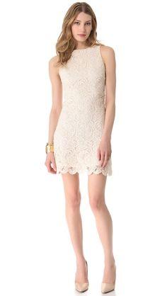alice + olivia Ingrid Lace Dress