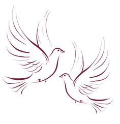 Free for Personal Use. No Commercial Use. Dove Drawing, Butterfly Drawing, Painting & Drawing, Bird Silhouette Art, Dove Tattoo Design, Dove Tattoos, Freundin Tattoos, Simple Artwork, Bird Artwork