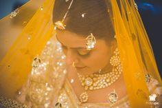 Meeta + Ankit #bride #bridetobe #gettingready #goldenyellowlehnga #bridaljewellery #jaipur  www.fridaypic.com