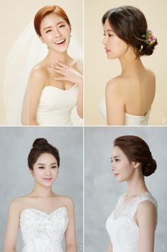 Wedding Hairstyles Korean Capelli Lunghi - 6 korean bridal hair & makeup style trends you must know Simple Bridal Makeup, Asian Bridal Makeup, Bridal Makeup Looks, Bridal Hair And Makeup, Asian Makeup, Korean Wedding Makeup, Korean Makeup, Party Hairstyles, Bride Hairstyles