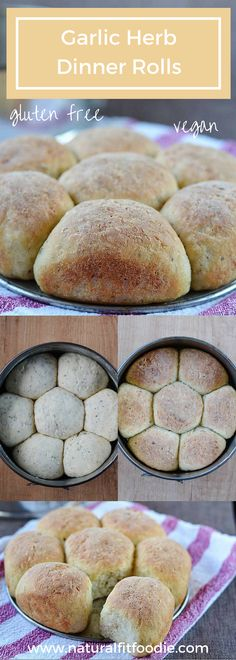 Gluten free garlic herb dinner rolls recipe - These gluten free garlic herb dinner rolls are bursting with flavor! Crusty on the outside, soft and fluffy on the inside, perfect for any special occasion!
