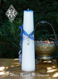 White Magick Alchemy - Peace and Healing Torch Light Candle 2x9 Pillar, $28.00 (http://www.whitemagickalchemy.com/peace-and-healing-torch-light-candle-2x9-pillar/)