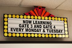 """Banner for """"Bright Lights, Big Learning!"""" City Theme 
