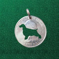 Cocker Spaniel Jewelry, Cocker Spaniel Pendant, Cocker Spaniel Necklace, Dog Key Chain, Your Choice, Cut Coin, Cut Coin Jewelry