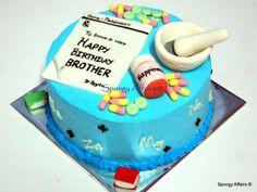 Pharmacy themed cake - by Meenakshi @ CakesDecor.com - cake decorating website