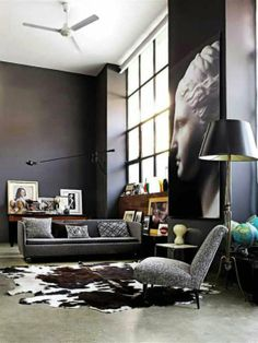There's a lovely, large cowhide rug in this design - and it's beautiful. #CowhideRug http://www.RawhideCompany.com