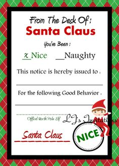Elf On The Shelf Boy Inspired Santa's Nice List by LJsInvitations, $2 ...