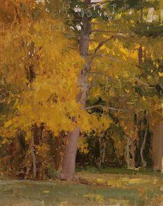 """""""Fields Edge"""" oil on linen, 10 x 8 in. - T. Allen Lawson"""
