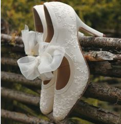 These vintage wedding shoes are mine. Literally.