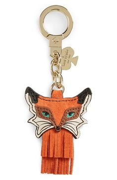 kate spade new york kate spade new york fox bag charm available at - women's watches, watch sale mens, mens designer watches *ad Kate Spade Handbags, Kate Spade Bag, Designer Bags For Less, Fox Crafts, Fox Bag, Cartier, Purse Styles, Breitling, Wallets For Women