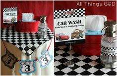 FREE Cars Party Printables - Cars Party Car Wash | www.allthingsgd.com