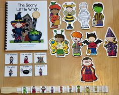"""This Halloween Adapted Book, """"The Scary Little Witch"""" is super-fun and interactive Halloween story that focuses on basic Halloween vocabulary, matching skills, Wh-questions, and sequencing story events. Halloween Stories, Halloween Activities, Holiday Activities, Halloween Themes, Halloween Crafts, Halloween Science, Preschool Halloween, Vintage Halloween, Speech Therapy Activities"""