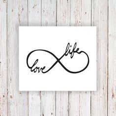 Temporary tattoo infinity symbol 'Love Life' Do the period for the o in love and a semicolon for the i in life!! Want it sooooo bad!!
