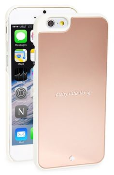 Free shipping and returns on kate spade new york 'pretty little thing' iPhone 6 case at Nordstrom.com. Text, tweet and talk with confidence thanks to this hard snap-on case from kate spade. Done in a mirrored rose-gold finish, this pretty little thing will protect and display your phone in fabulous style.