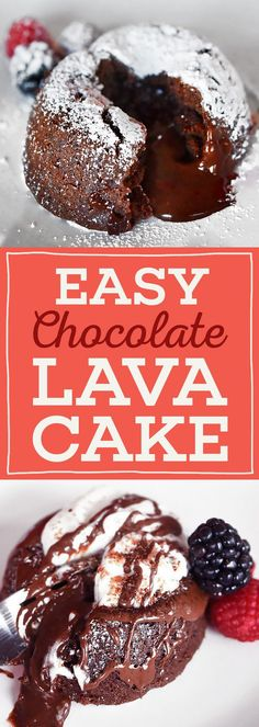 How To Make The Easiest, Most Delicious Chocolate Lava Cakes - perfect for a night in with your loved one.