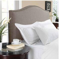 Better Homes and Gardens Grayson Linen Headboard with Nailheads, Multiple Colors, Multiple Sizes - Walmart.com
