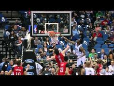 Andrew Wiggins climbs the ladder over Omer Asik for the major facial.