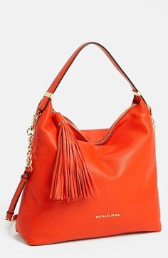 Michael Kors Weston Large Shoulder #Orange Bag