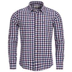 Trachtenhemd Slim Fit zweifarbig in Lila und Blau von Almsach