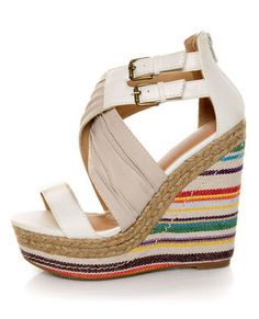 This might be a little tall but I'm looking for a spring/summer wedge- these might be it!