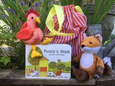 Rosie's Walk Story Sack! Bring this story to life by taking Rosie for a walk whilst she has no idea a sly fox is following her! Reinforce prepositions as Rosie goes 'through', 'over', 'under and 'around' on her travels. #storysack #eyfsbooks #eyfscommunicationandlanguage #eyfsliteracy #eyfs #earlyyears Rosies Walk, Story Sack, Book Boxes, Book Baskets, Home Learning, Eyfs, Nursery Rhymes, Preschool Crafts, Farming