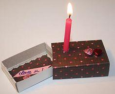 Candle-Light in Streichholzschachtel