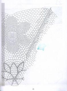"Photo from album ""магия вязания on Yandex. Filet Crochet, Crochet Doilies, Crochet Lace, Crochet Diagram, Doily Patterns, Crochet Patterns, Crochet Ideas, Crochet Magazine, Table Covers"