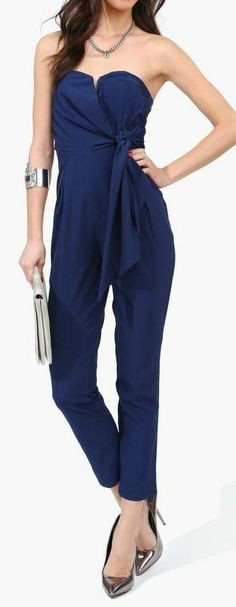 Navy Harem Jumpsuit..if only I could pull this off