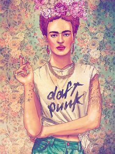 Ilustraciones de Frida Kahlo creadas por artistas de todo el mundo