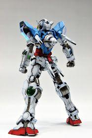 GUNDAM GUY: MG 1/100 GN-001 Gundam Exia - Painted Build Gundam Exia, Gundam 00, Transformers, Gundam Model, Mobile Suit, Badass, The 100, Model Kits, Guys