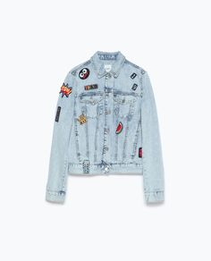 DENIM JACKET WITH PATCHES-Outerwear-TRF | ZARA United States