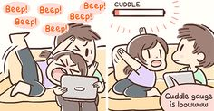 Girlfriend Illustrates Everyday Life With Her Boyfriend And A Puppy In 10+ Adorable Comics | Bored Panda