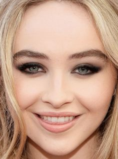 Close-up of Sabrina Carpenter at the 2016 iHeartRadio Music Awards. http://beautyeditor.ca/2016/04/06/iheartradio-music-awards-2016