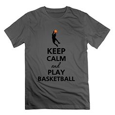 xj-cool Keep Calm And Play de baloncesto hombre Activewear camiseta DeepHeather Negro Deep Heather L #camiseta #realidadaumentada #ideas #regalo