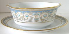 Polonaise Noritake china  I absolutely love this pattern! The contrasting blues are stunning. :)