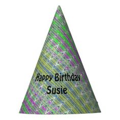 Colorful Party Hat Personalized with name #zazzle #party #hats