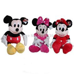 30cm Mickey Mouse And Minnie Mouse Soft Toy