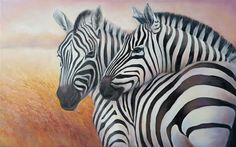 Zebras Oil painting by Mariia Voloshyna | Artfinder