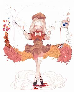 Cream Puff Cookie - Cookie Run - Image - Zerochan Anime Image Board Really Cool Drawings, Cute Drawings, Character Inspiration, Character Art, Character Design, Anime Chibi, Anime Art, Cookie Run, Pastel Art
