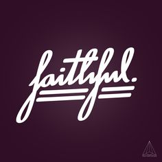 - faithful - by Want Another God #Creation #Type #Idea #Mywork #font #faithful #typography #typographie