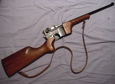 Mauser Carbine in Mauser // This little carbine was very popular as a handy sporter rifle for varminting. The entire stock can be easily removed for storage. Military Weapons, Weapons Guns, Guns And Ammo, Armas Wallpaper, Cool Guns, Le Far West, Survival Gear, Cannon, Firearms