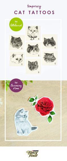 Wear your heart on your sleeve with these fun temporary cat tattoos. And for even more cat inspired fashion items take a look at DailyFancies.com