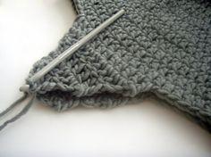 Crochet ear-flap hat