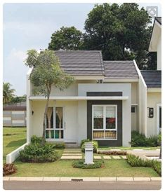 73 Minimalist Home Terrace Ideas with Minimalist Plant Garden (Rumah minimalis) Tiny House Exterior, Modern Exterior, Interior Modern, Interior Design, Modern Furniture, Architecture Classique, Modern Architecture, Small House Design, Modern House Design
