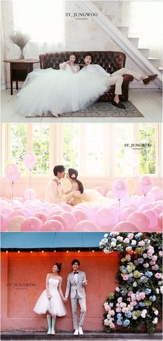 Korea wedding photography - - ST Jungwoo 2017 Collection - Fun, Indoor, Home, Floral, Balloon