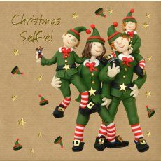 Christmas selfie card by Erica Sturla