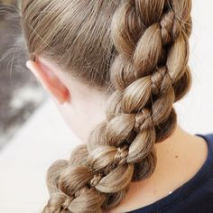 """5 Strand Intricate Braid on Quinn today 👱🏼♀️ This braid always makes strangers stare and ask """"how did you do that?"""" 😂 To see the complete tutorial click on the link in my profile to take you to my """"On Hair With Erin"""" App 🙌🏼 #5strandbraid #5strandintricatebraid #braids #braiding #hairvideos #hairtutorial #hairinspo #learntobraid #onhairwitherin #erinbalogh 5 Braid, Dutch Fishtail Braid, Flower Girl Hairstyles, Braided Hairstyles, 5 Strand Braids, Eva Hair, Hair Videos, Hair Inspo, Updos"""
